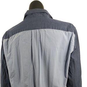 J. Crew Tops - J Crew Medium Sunwashed Tailored Oxford Blue